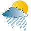 Fortes averses de pluie avec éclaircies