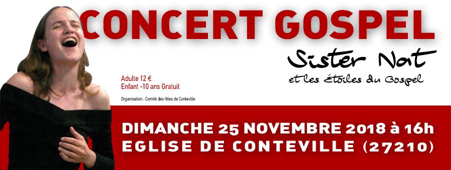 Concert gospel Conteville